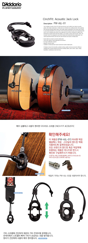 다다리오 CinchFit Acoustic Jack Lock (PW-AJL-01)]
